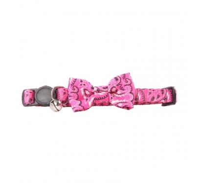 Pawise Περιλαίμιο Ροζ Με Κουδουνάκι Και Φιόγκο 30cm