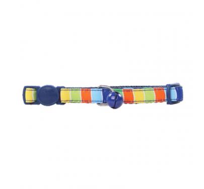 Pawise Περιλαίμιο Με Κουδουνάκι Stripe Μπλε 30cm