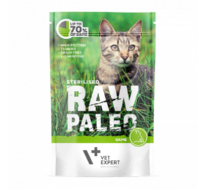 Vet Expert Vet Expert Raw Paleo Sterilised Game 100 gr