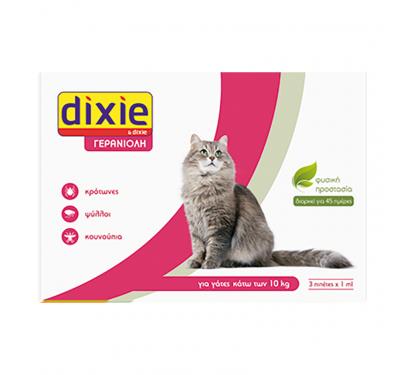 Quimunsa Dixie Γερανιόλη Πιπέτες Γάτας 3x1ml