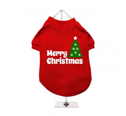 "Urban Pup Μπλουζάκι Σκύλου Κόκκινο ""Christmas Tree"""