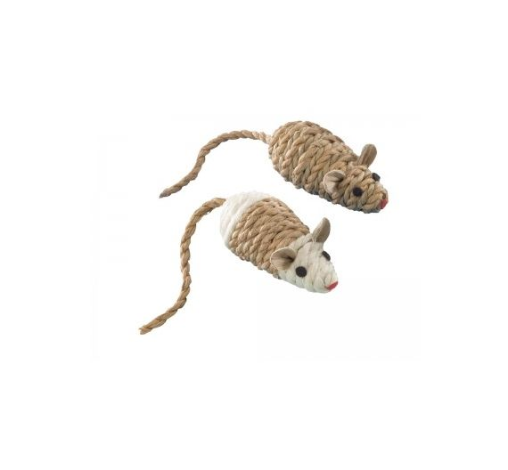 NOBBY SET 2τεμ Sisal mouse w/ rattle