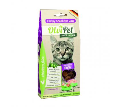 OlviPet CrispySnack Cat 80g