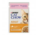 Purina Cat Chow Adult Σολομός & Πράσινα Φασολάκια σε Ζελέ 85gr