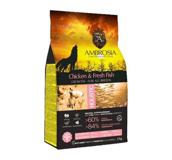 Ambrosia Holistic Growth Chicken & Fresh Fish 2kg
