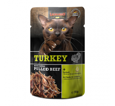 Leonardo Φακελάκι Turkey & Extra Pulled Beef 70gr