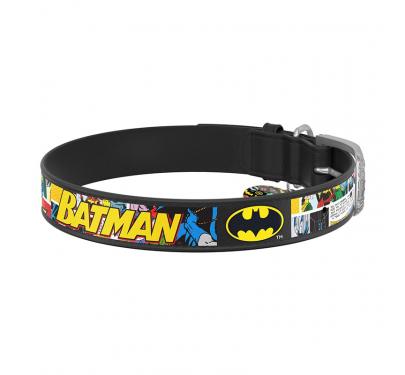 Wau Dog Περιλαίμιο Δερμάτινο Batman 1 με Smart ID