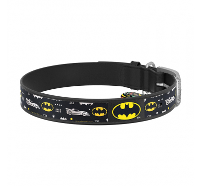 Wau Dog Περιλαίμιο Δερμάτινο Batman 3 με Smart ID