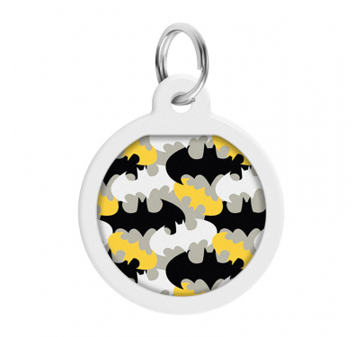 Wau Dog Μεταλλική Ταυτότητα 25mm Batman Pattern με Smart ID