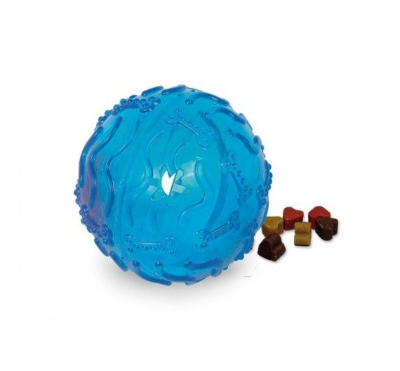 Nobby Tpr Rubber Treat Ball Blue