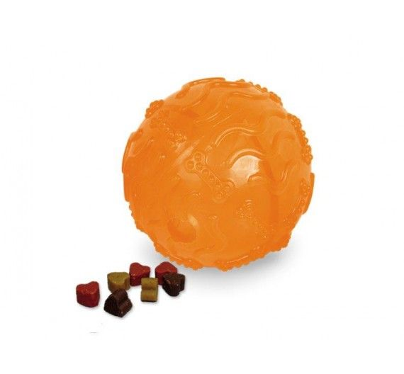 Nobby Tpr Rubber Treat Ball Orange 10cm