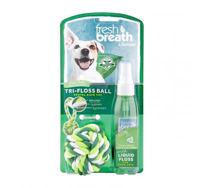 Tropiclean Oral Care Liquid Floss & Rope Ball
