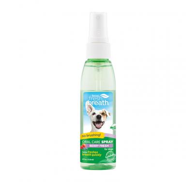 Tropiclean Clean Teeth Oral Care Spray Με Γεύση Μούρο 118ml