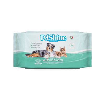 Petshine Υγρά Μαντηλάκια Καθαρισμού Passion 40τμχ