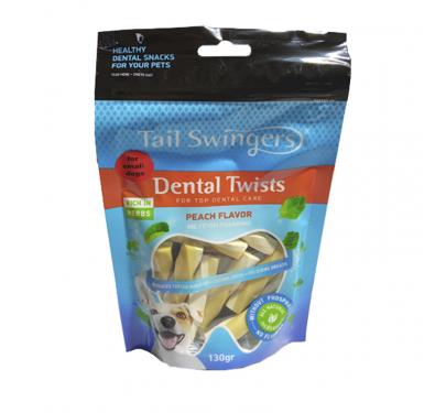 Tail Swingers Dental Twists Ροδάκινο 130gr Small Breeds