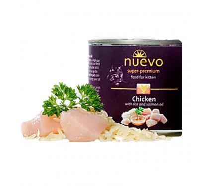 Nuevo Kitten Κοτόπουλο με Ρύζι 200gr