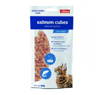 Les Filous Salmon Cubes 50gr