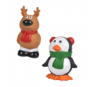 Love Story Λαστιχένιο Παιχνίδι Σκύλου Χριστουγεννιάτικο 12.9x6.3x6.4cm με Ήχο