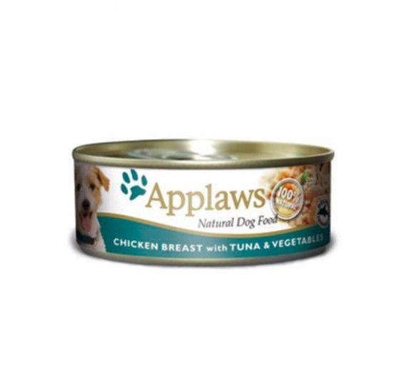 Applaws Φιλέτο Κοτόπουλο, Τόνος & Λαχανικά 3x156gr