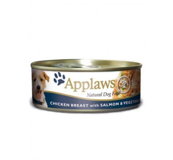 Applaws Φιλέτο Κοτόπουλο, Σολομός & Λαχανικά 3x156gr