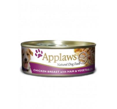 Applaws Φιλέτο Κοτόπουλο, Ζαμπόν & Λαχανικά 3x156gr