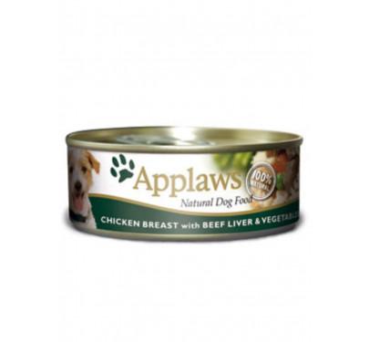 Applaws Φιλέτο Κοτόπουλο, Συκώτι Μοσχαριού & Λαχανικά 3x156gr