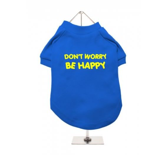 "T-shirt σκύλου ""Don't worry be happy"""