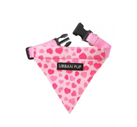 Μπαντάνα Σκύλου Pink Hearts
