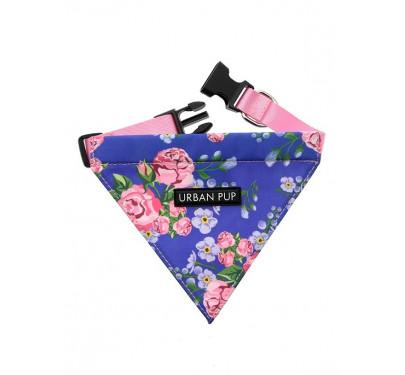 Μπαντάνα Σκύλου Blue Pink Floral