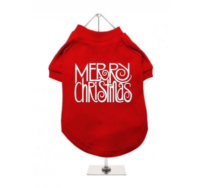 """Χριστουγεννιάτικο T-shirt Σκύλου """"Merry Christmas"""""""