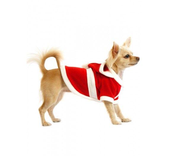 """Χριστουγεννιάτικο Παλτό / Στολή σκύλου """"Άγιος Βασίλης"""""""