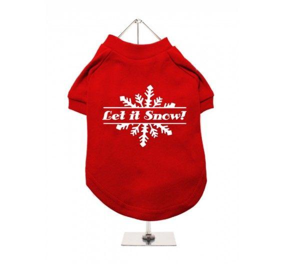 """Χριστουγεννιάτικο T-shirt Σκύλου """"Let It Snow"""""""