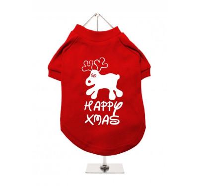 """Χριστουγεννιάτικο T-shirt Σκύλου """"Happy Xmas"""""""