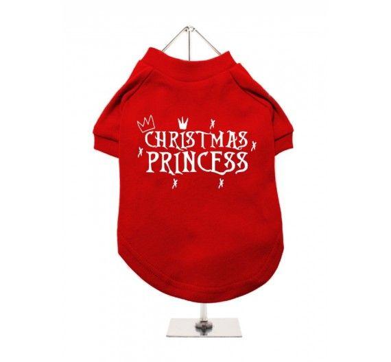 """Χριστουγεννιάτικο T-shirt Σκύλου """"Christmas Princess"""""""