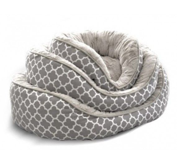 Κρεβάτι Σκύλου/Γάτας με Γούνα Hamptons Γκρι