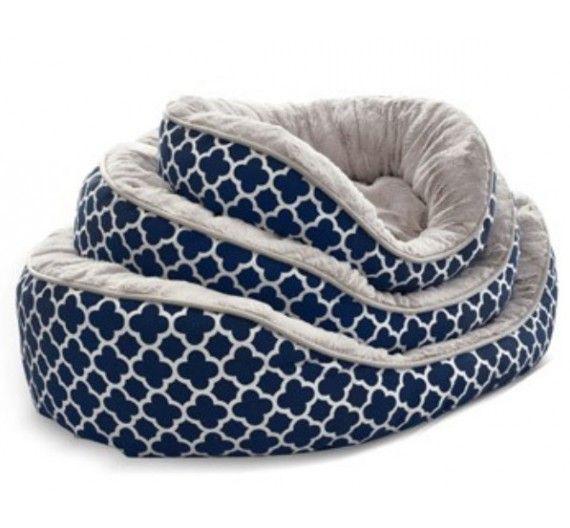 Κρεβάτι Σκύλου/Γάτας με Γούνα Hamptons Μπλε