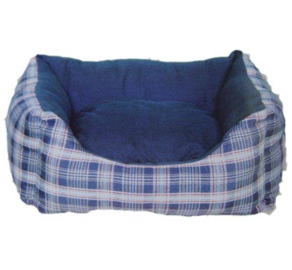 Kρεβάτι Mπλέ Καρώ LS113