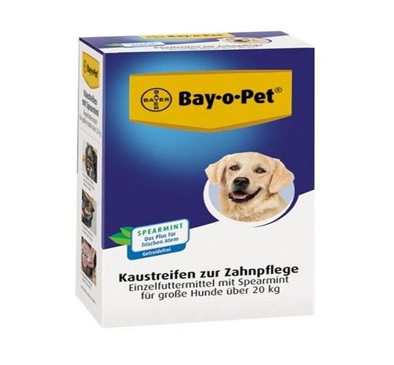 Nobby Bay-o-Pey Dental Chewing Strips with Spearmint