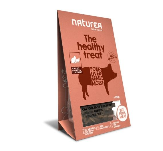 Naturea Semi-moist Snacks Pork Liver 100gr