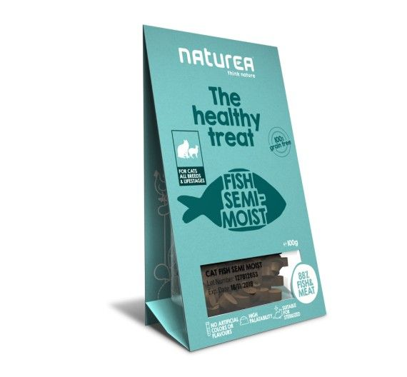 Naturea Semi-moist Snacks Fish 100gr