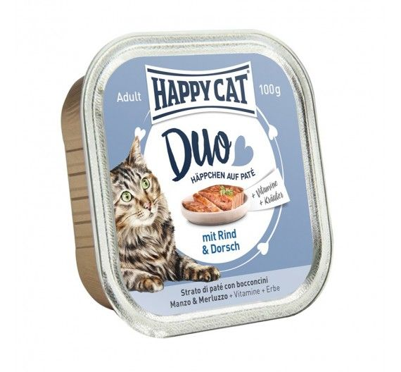 Happy Cat Duo Βοδινό & Μπακαλιάρος