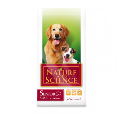 Nature & Science Dog Senior All Breads 2.5kg