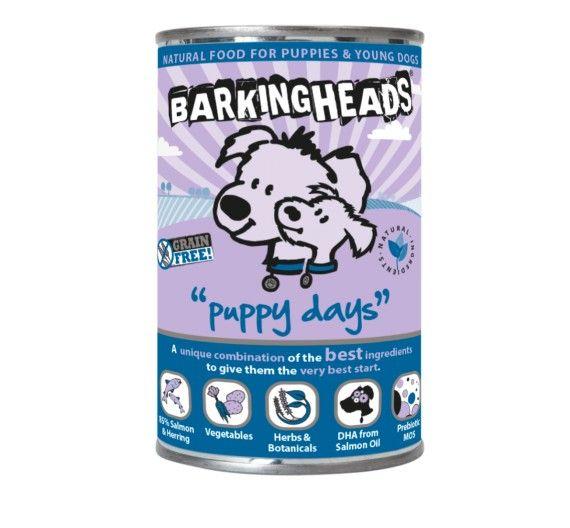 Barking Heads Puppy Days με Σολομό & Ρέγγα - 400g