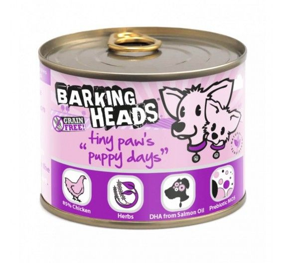 Barking Heads Tiny Paws Puppy Days με Σολομό - 200g