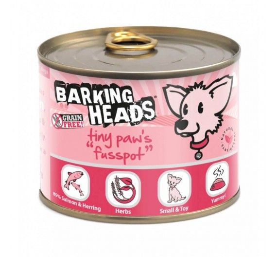 Barking Heads Tiny Paws Fusspot Σολομός - 200g