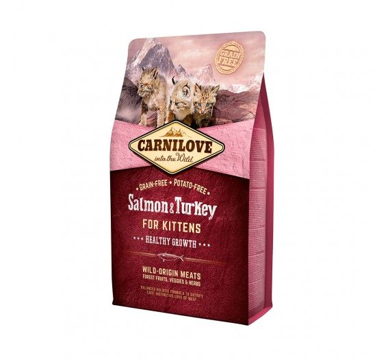 Carnilove Kittens Salmon & Turkey 6kg - Healthy Growth