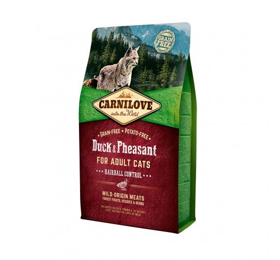 Carnilove Adult Cats Duck & Pheasant 2kg - Hairball Control