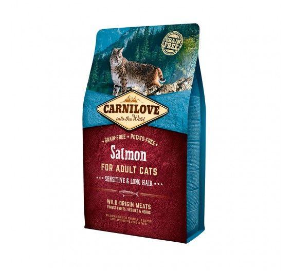 Carnilove Adult Cats Salmon 2kg - Sensitive & Long Hair