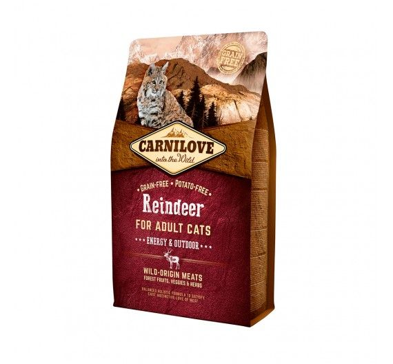 Carnilove Adult Cats Reindeer 6kg - Energy & Outdoor