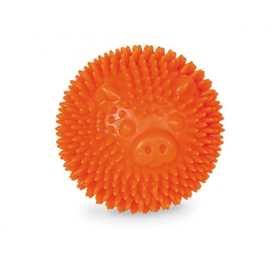 Nobby Tpr Rubber Spiky Ball Pig Orange 8cm